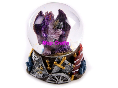 Polyresin Dragon Snow Globe, Resin Dragon Crafts