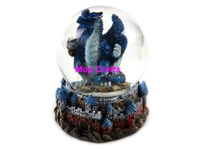 Resin Dragon Snowglobe, Polyresin Dragon Figurine Crafts